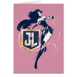 Cartão Mulher maravilha da liga de justiça | & de ícone