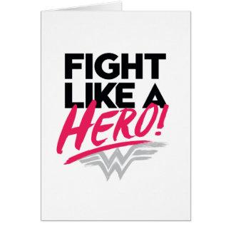 Cartão Mulher maravilha - luta como um herói