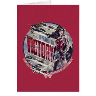 Cartão Mulher maravilha para cima à vitória