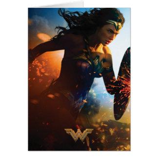 Cartão Mulher maravilha que funciona no campo de batalha