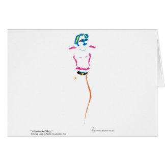 Cartão Mulher no azul
