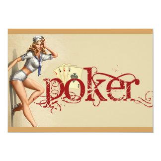 """Cartão Mulher """"sexy"""" do póquer"""