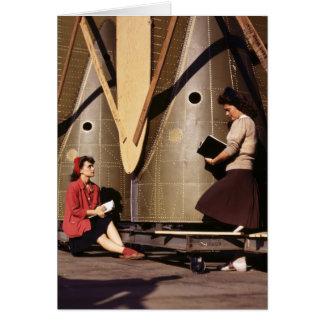 Cartão Mulheres de WWII, os anos 40