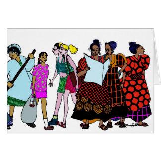 Cartão Mulheres do mundo - 2