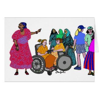 Cartão Mulheres do mundo - 3