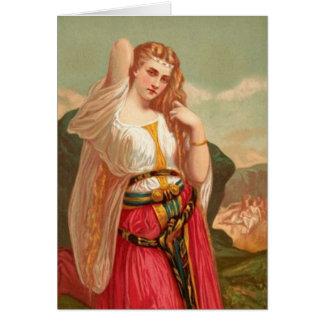 Cartão Mulheres na bíblia - a filha de Jephthah