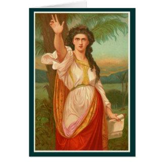 Cartão Mulheres na bíblia - Deborah