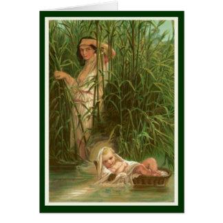 Cartão Mulheres na bíblia - Miriam & seu irmão Moses