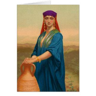 Cartão Mulheres na bíblia - Rebekah, noiva para Isaac