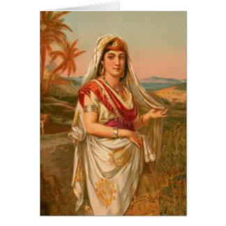 Cartão Mulheres na bíblia - Sarah a princesa
