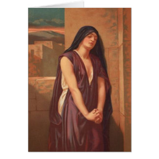 Cartão Mulheres na bíblia - viúva de Nain