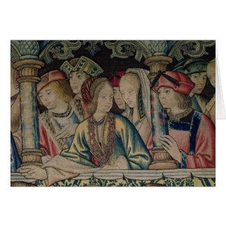 Cartão Mulheres na corte de David