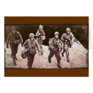 Cartão Mulheres na engrenagem WWII do combate