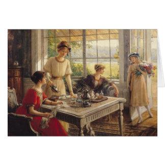 Cartão Mulheres que tomam o chá