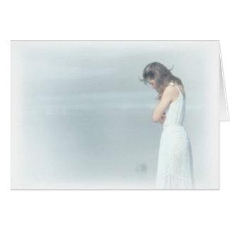 Cartão mulheres tristes