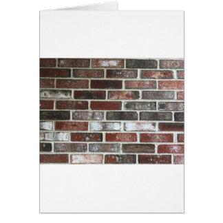 Cartão Multi parede de tijolo da cor com vermelhos,