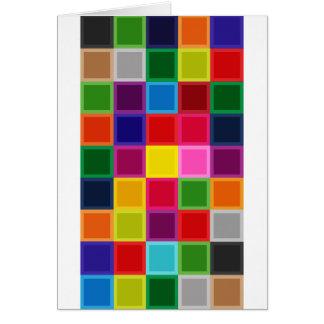 Cartão Multi quadrados e listras coloridos femininos
