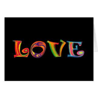 Cartão Multicolour do amor