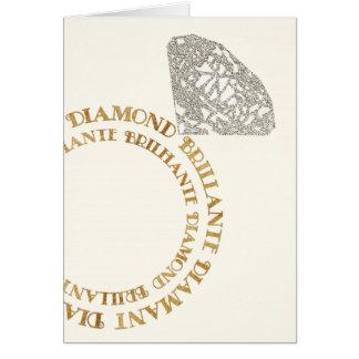 Cartão multilingue da tipografia do anel de