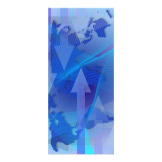 Cartão mundial da cremalheira de mapa do negócio planfeto informativo colorido