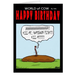 Cartão Mundo do feliz aniversario da vaca