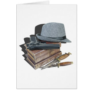 Cartão MurderMysteryBooksGunKnivesFedora042113.png