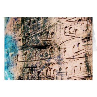 Cartão - música cerâmica com azul