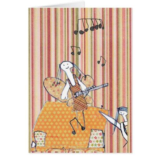 Cartão musical da fada da flauta
