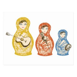Cartão musical das bonecas de Matryoshka