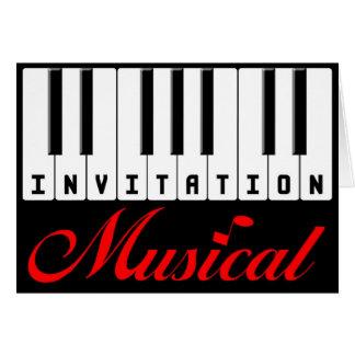 Cartão musical do convite