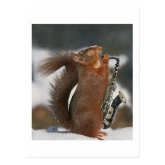 Cartão musical do esquilo cartão postal
