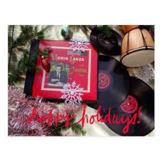 Cartão musical do feriado de Mario Lanza do