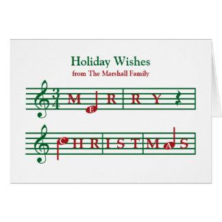 Cartão musical do feriado do Natal