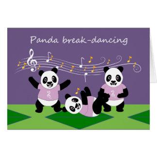 Cartão musical dos animais da panda da dança