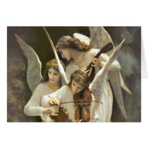 Cartão musical dos anjos