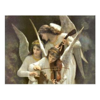 Cartão musical dos anjos cartao postal