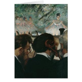 Cartão Músicos da orquestra de Edgar Degas |