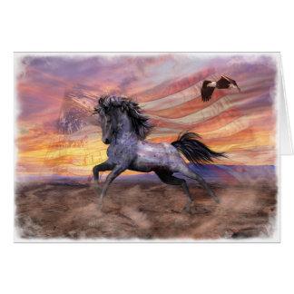 """Cartão Mustang da liberdade 5"""" x7"""" cartão, incluir branco"""