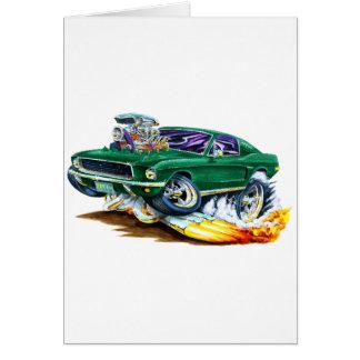 Cartão Mustang de Bullitt com motor grande