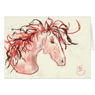 Cartão Mustang vermelho