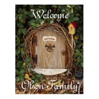 Cartão Mystical da boa vinda da porta do jardim do Cartão Postal