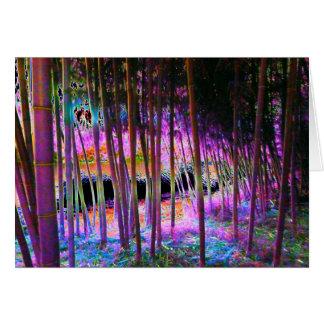 Cartão Mystical da floresta