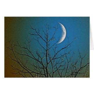 Cartão Mystical da lua