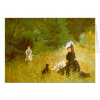 Cartão Na grama por Berthe Morisot