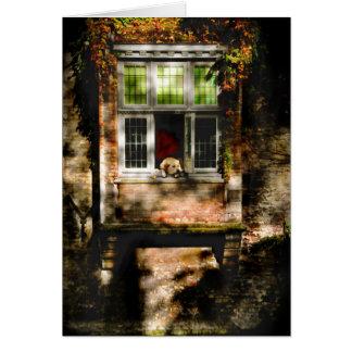 Cartão … na janela…