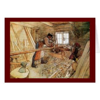 Cartão Na loja do carpinteiro