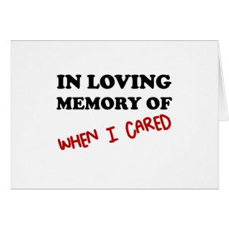 Cartão Na memória quando importado