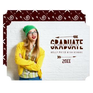 Cartão Na moda, anúncios da graduação das setas