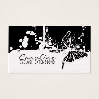 Cartão na moda da borboleta preta das extensões da