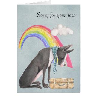 Cartão Na perda de um cão de estimação
